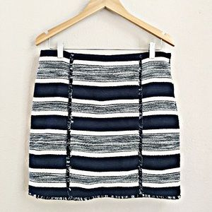 Banana Republic Mini Jacquard Skirt Navy Stripe 6